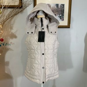 Marc New York Andrew Marc Cream Vest Jacket Sz L/G